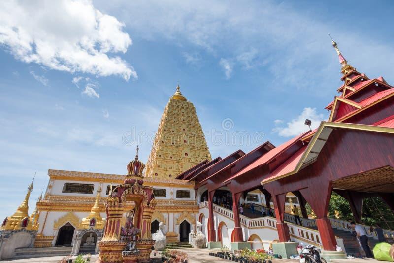 Пагода Phuthakaya, ориентир ориентир здания золота Bodh Gaya стоковое изображение
