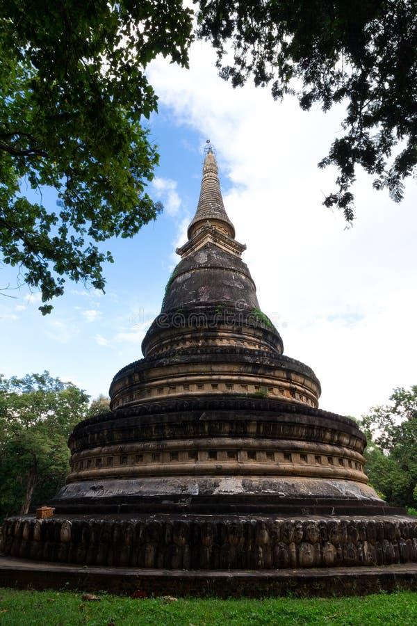Пагода виска Wat Umong в Chiangmai Таиланде стоковые фото