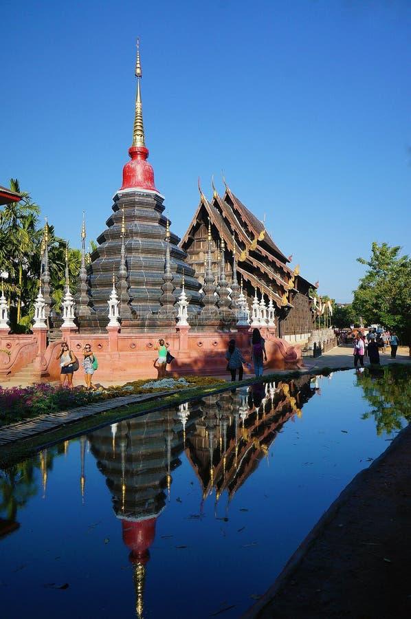 Пагода на лотке Дао Чиангмае Таиланде Wat стоковая фотография rf