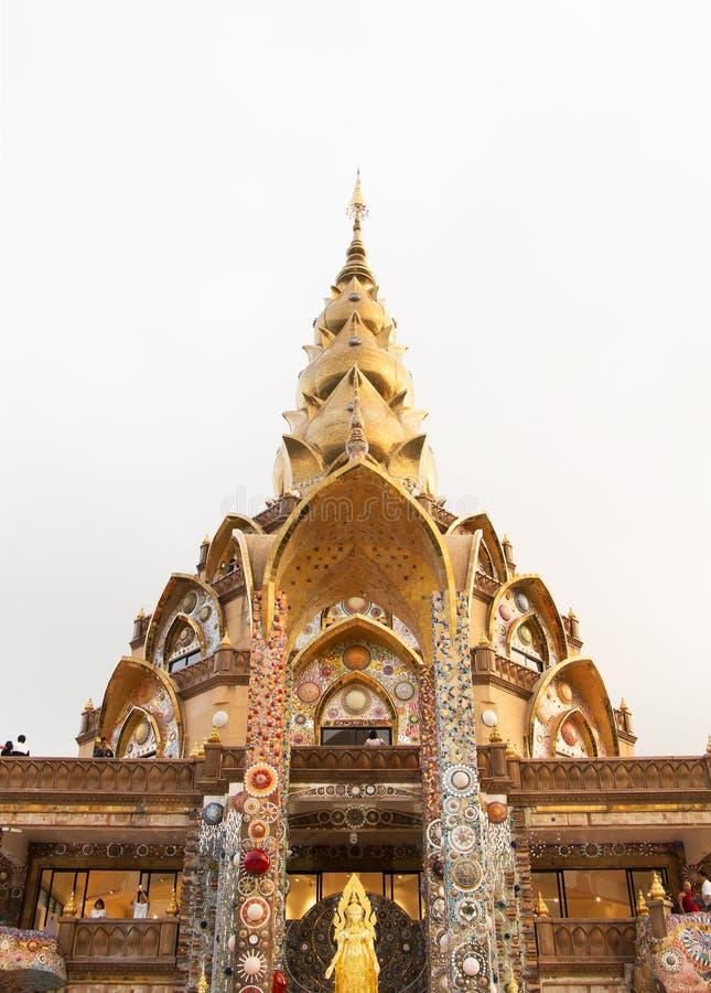 Пагода, общественный висок в Таиланде Wat Phra который сын Kaew Pha, взгляд стоковая фотография rf