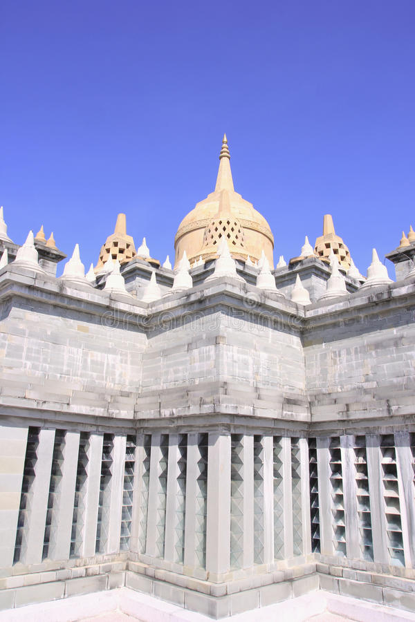 Пагода песчаника в виске PA Kung на Roi Et Таиланда Место для раздумья стоковые изображения rf