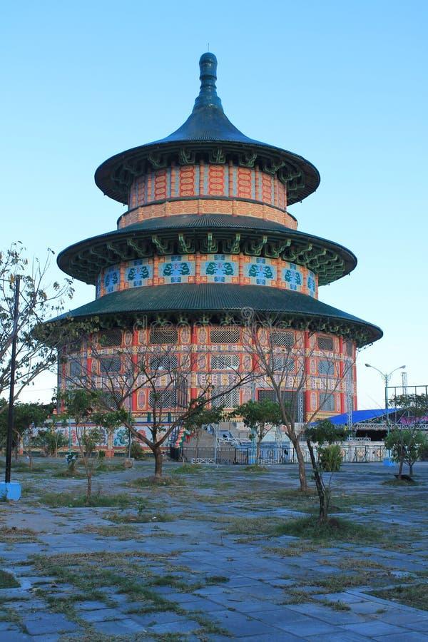 пагода Сурабая стоковое фото