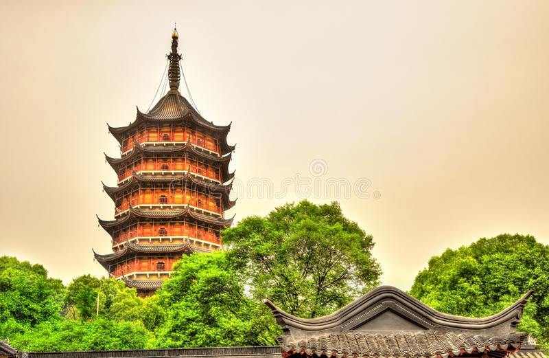 Пагода Beisi на виске Bao'en в Сучжоу, Китае стоковое изображение rf