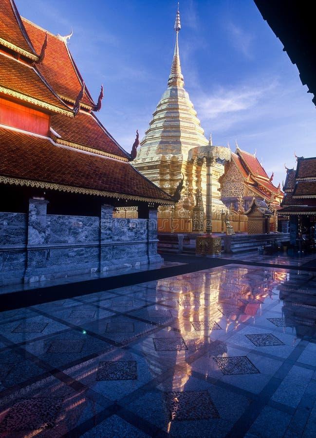 Пагода Doi Suthep стоковое изображение rf