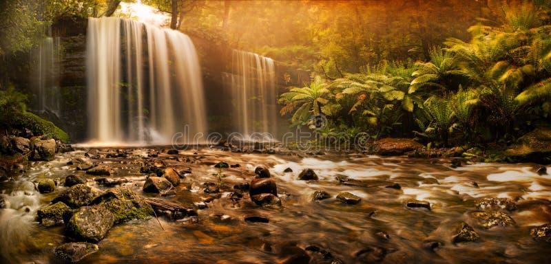 падает водопад russell стоковое фото