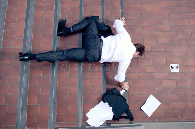 падать бизнесмена стоковые фотографии rf
