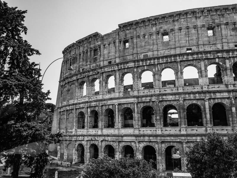 Падать влюбленн в загадочное Colosseum стоковое фото