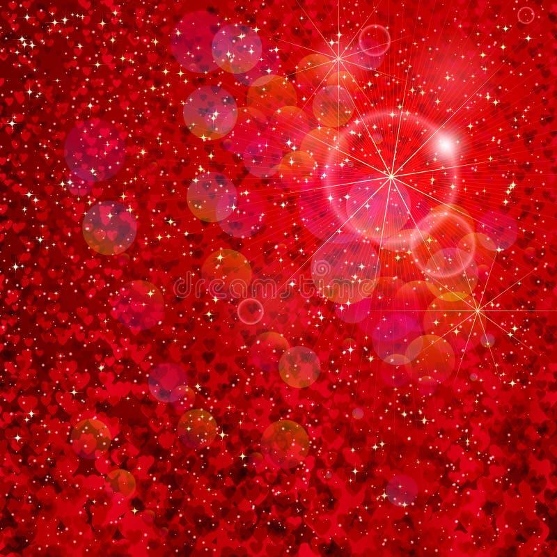 падая звезды сердец иллюстрация штока