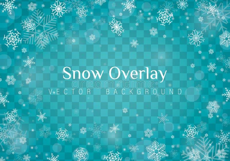 Падая снег рождества иллюстрация вектора
