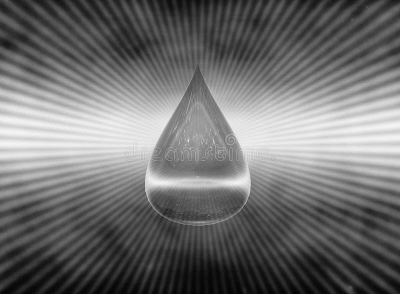 падение воды символа H2O воды пакостной иллюстрация 3d иллюстрация штока