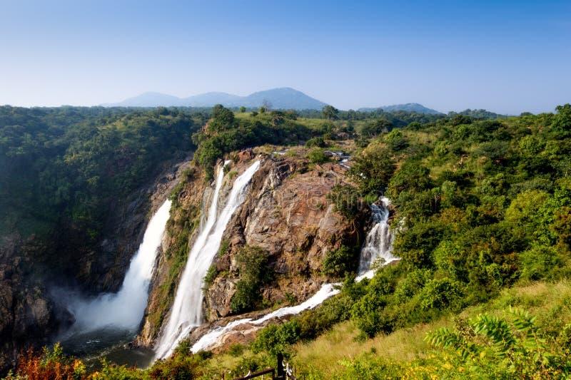 Падение воды Shivanasamudra в положение Karnataka Индии стоковое фото rf
