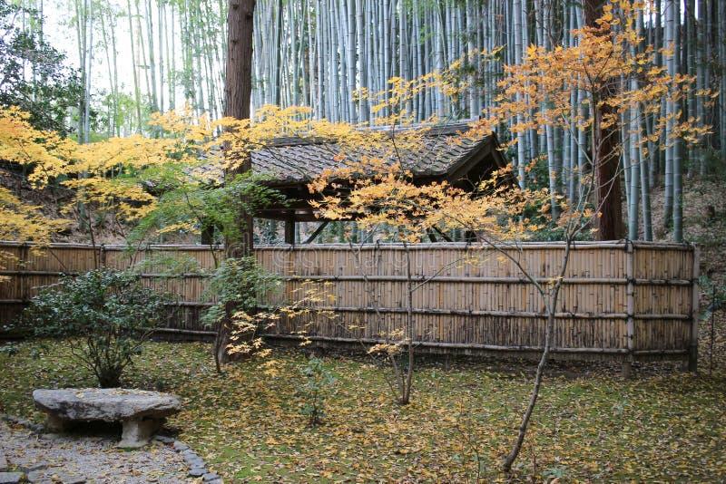падение в резидентов положения виска Konkai Komyoji стоковая фотография