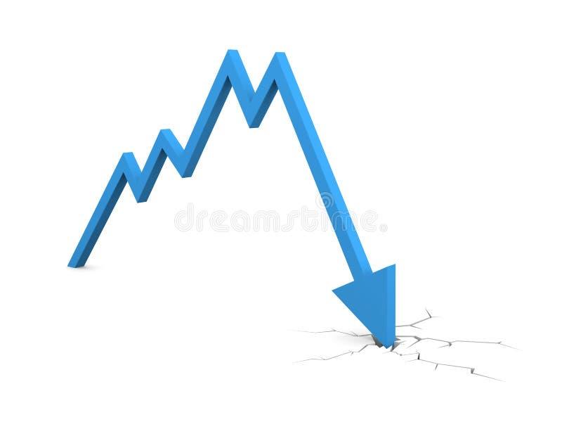 падение кризиса дела хозяйственное иллюстрация штока
