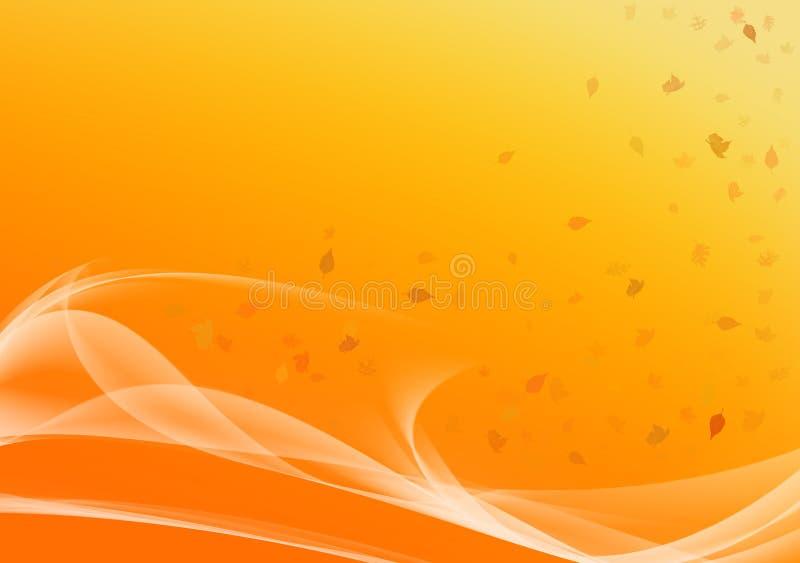 падение осени выходит ветер иллюстрация вектора