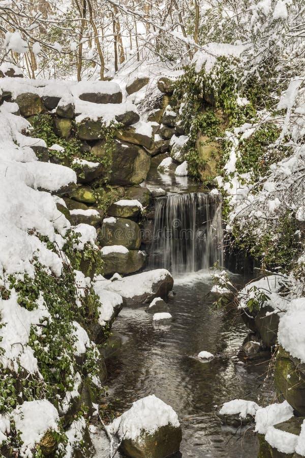 Падения и бассейн Snowy Ambergill стоковые изображения