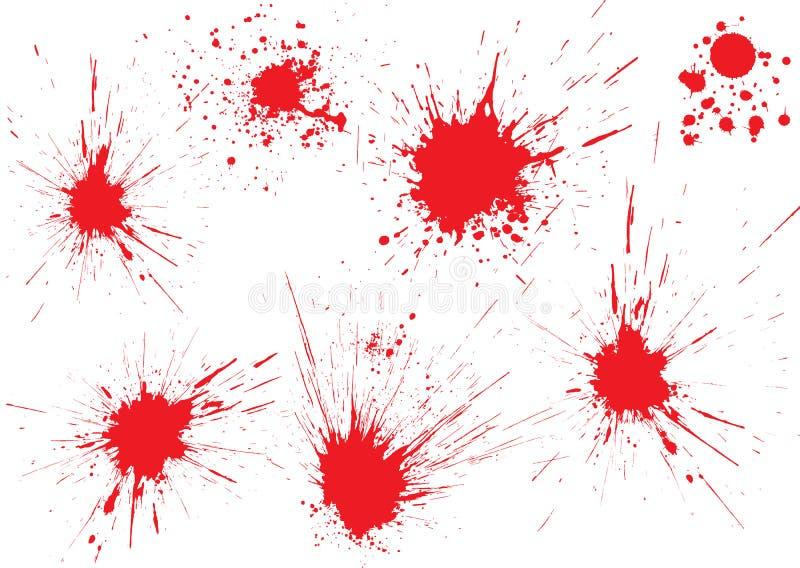 падения крови иллюстрация вектора