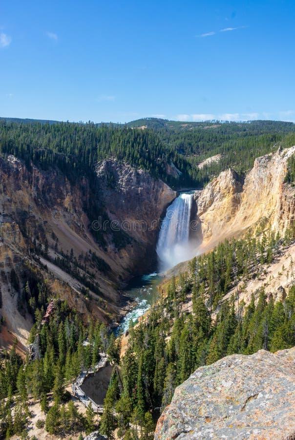 падения понижают реку yellowstone стоковые изображения
