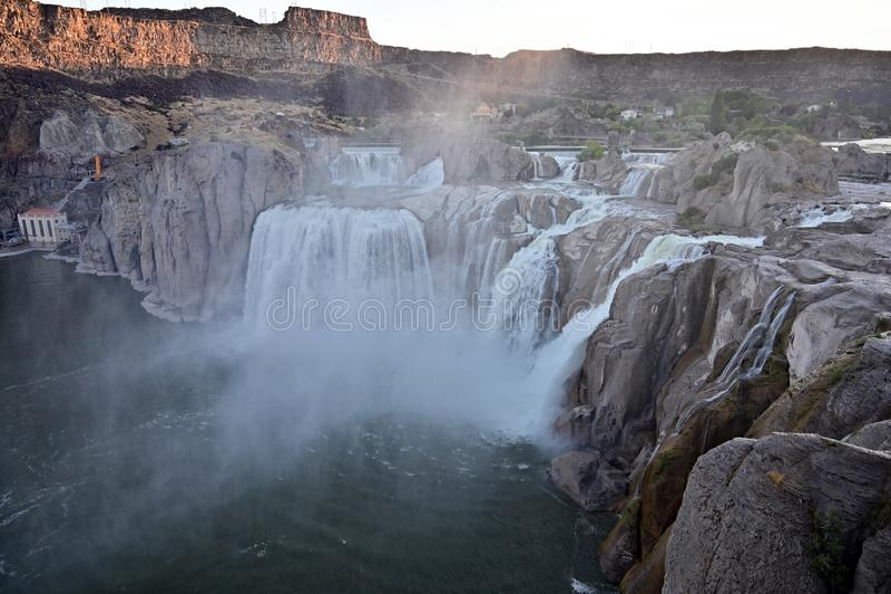 Падения Шошона в Twin Falls, Айдахо стоковые изображения