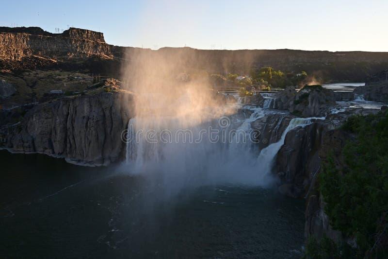 Падения Шошона в Twin Falls, Айдахо стоковое изображение