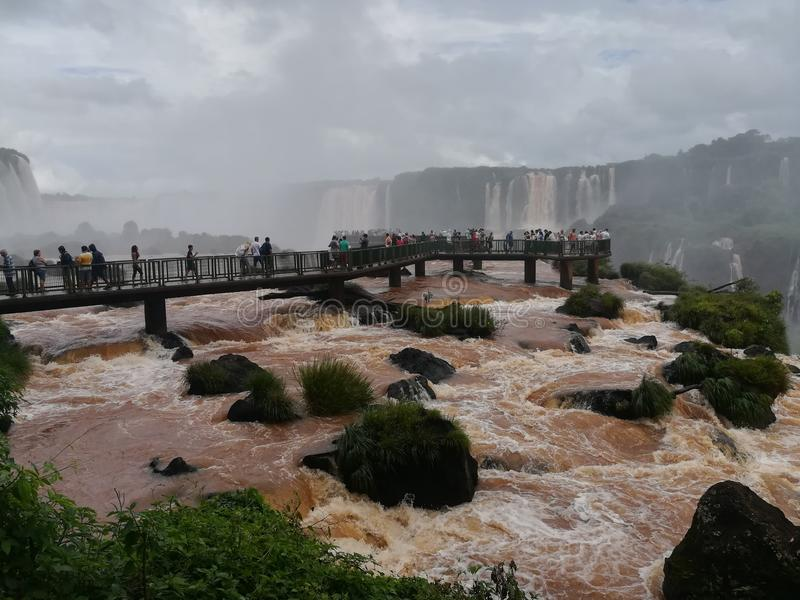 Падения Foz da Iguazú стоковое фото