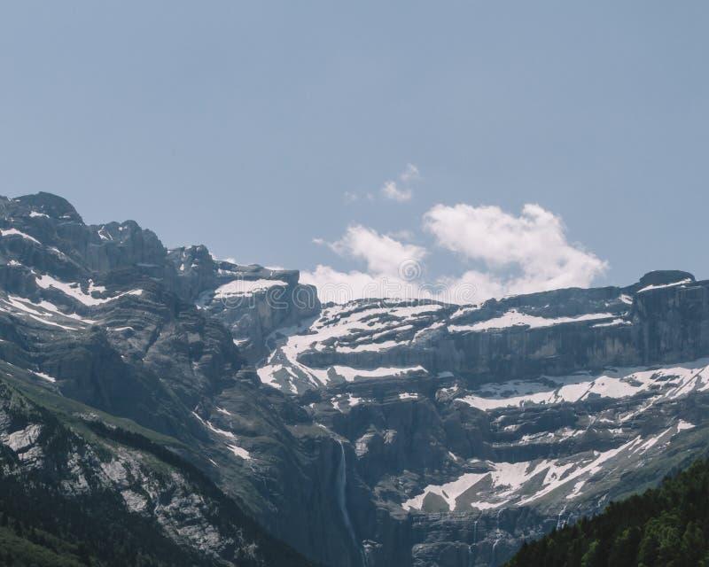 Падения Gavarnie, самый высокий водопад на материке Франция, в горах Пиренеи стоковая фотография rf