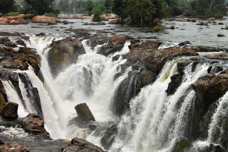 Падения Hoggenakal - Tamilnadu стоковое изображение rf