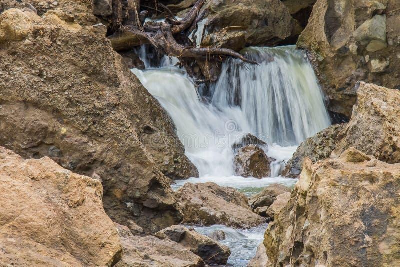 Падения Patal, начало реки Sapang стоковые фото