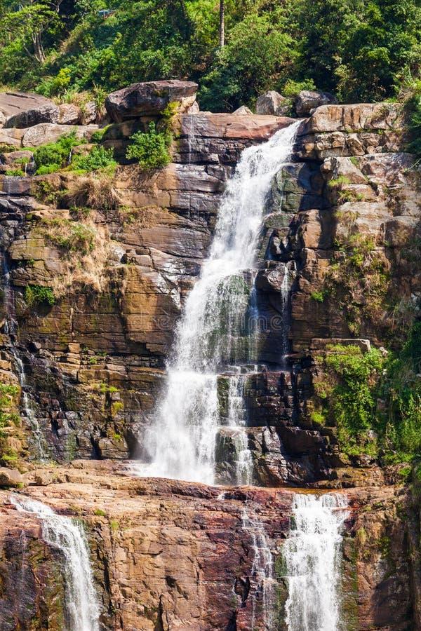 Падения Ramboda, Шри-Ланка стоковая фотография rf