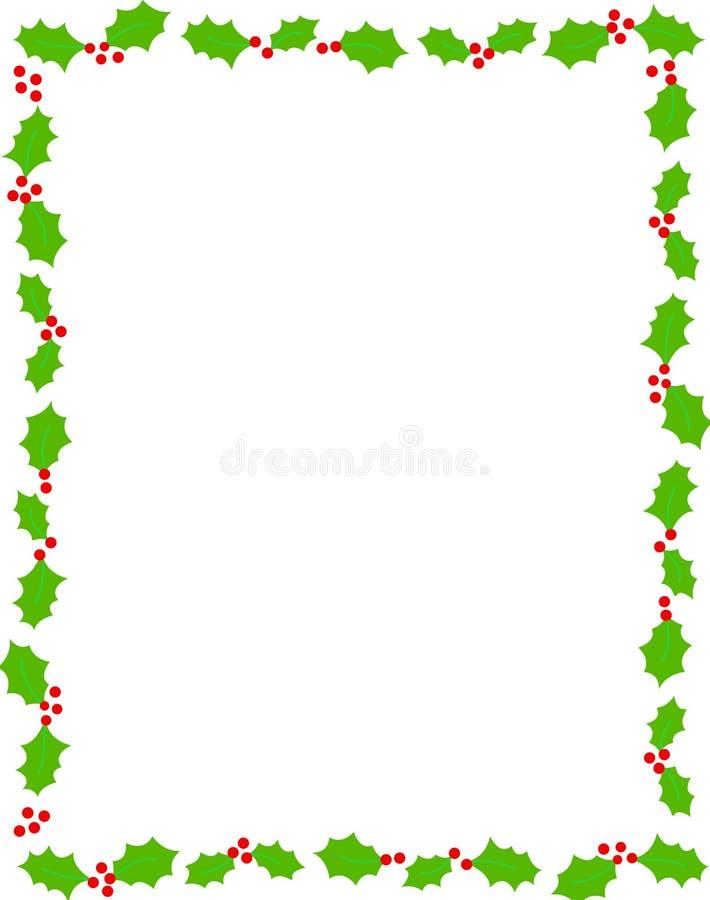падуб рождества граници иллюстрация вектора