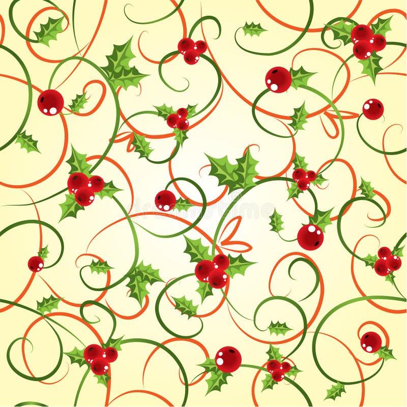 падуб cyclic ягоды предпосылки иллюстрация вектора