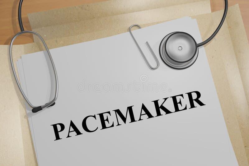 ПАКЕМАКЕР - концепция медицинского инструмента бесплатная иллюстрация