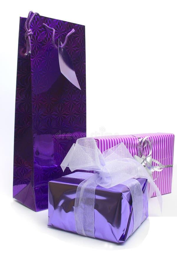 пакетирует пурпур стоковые изображения rf