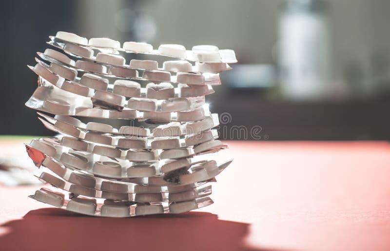 Пакеты пилюлек стоковое изображение rf