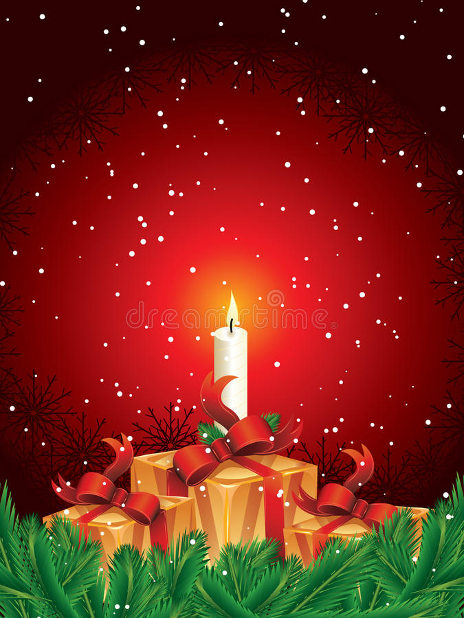 пакеты подарка рождества иллюстрация вектора