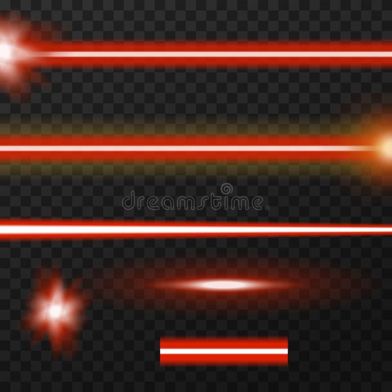 Пакет лазерных лучей иллюстрация вектора