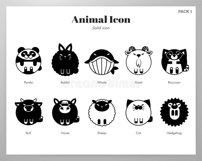 Пакет животного значка твердый бесплатная иллюстрация