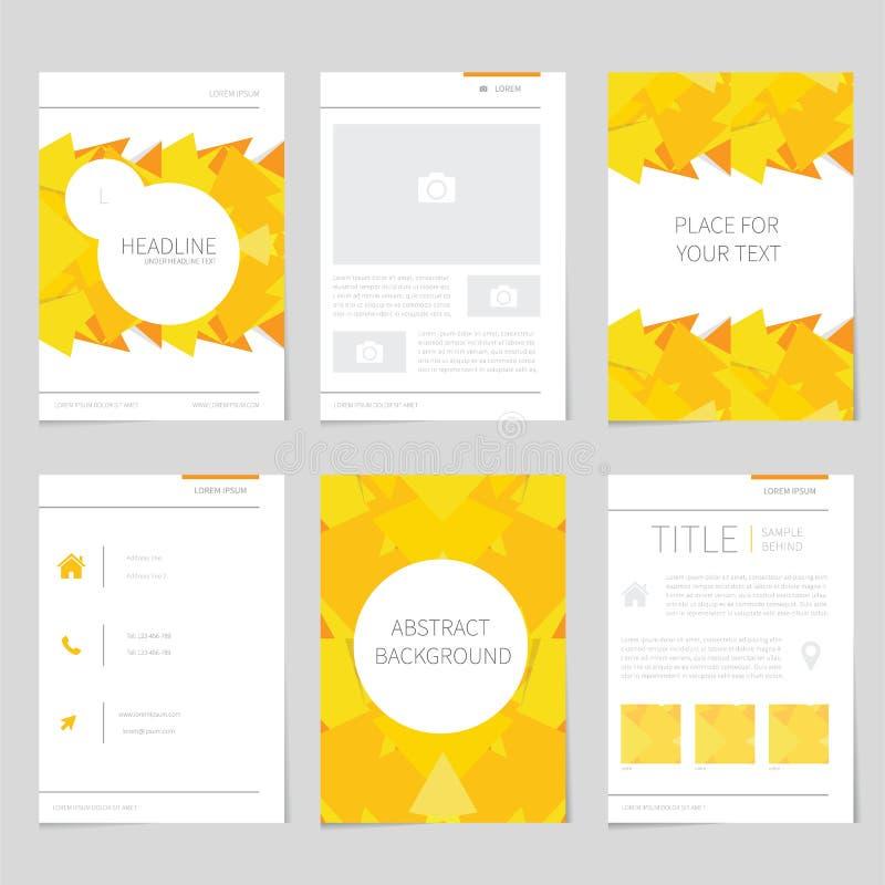 Пакет дизайна рогульки в плоском дизайне иллюстрация штока