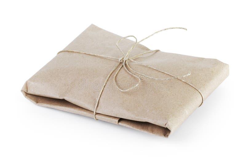 Пакет или подарок стиля малого пакета столба винтажный стоковое изображение rf