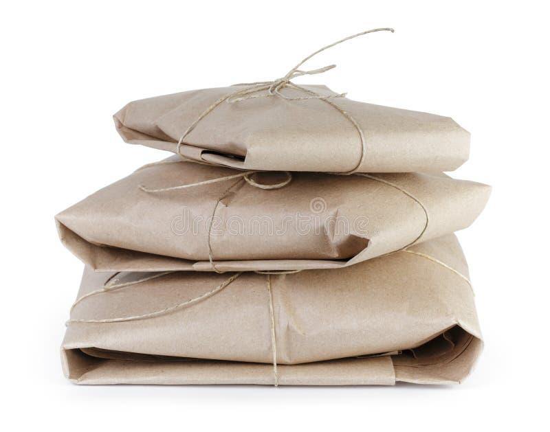 Пакет или подарок стиля малых пакетов столба винтажный стоковое изображение rf