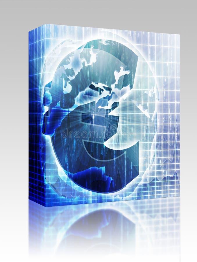 пакет карты евро валюты коробки бесплатная иллюстрация