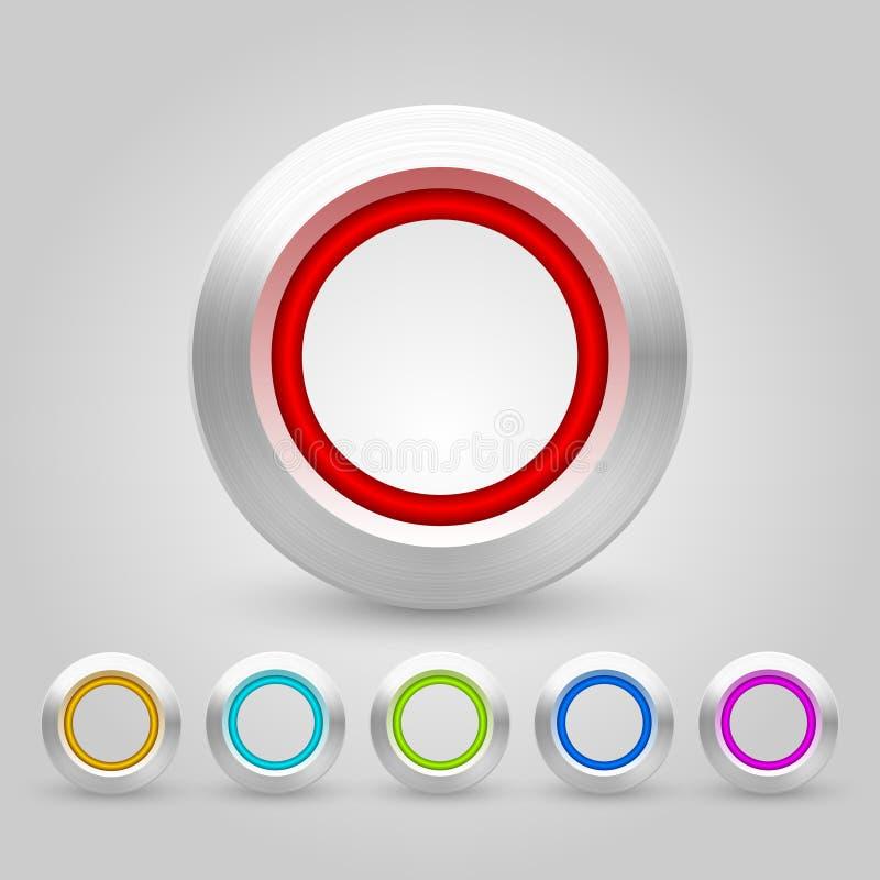 Пакет кнопок сети вектора иллюстрация вектора