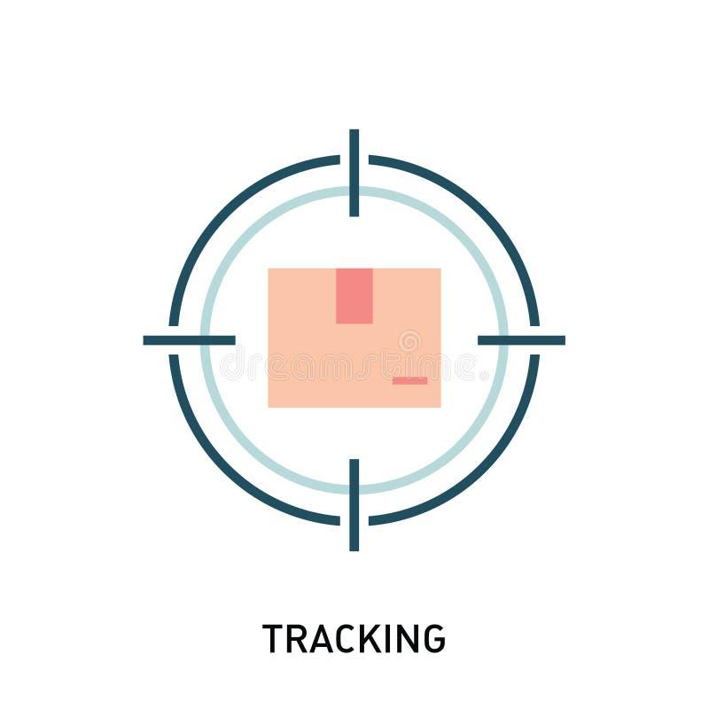 Пакет отслеживая значок Коробка в цели бесплатная иллюстрация