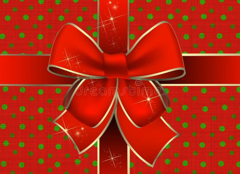 пакет подарка рождества иллюстрация штока