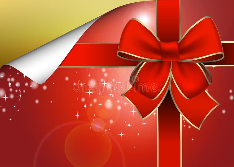 пакет подарка рождества иллюстрация вектора