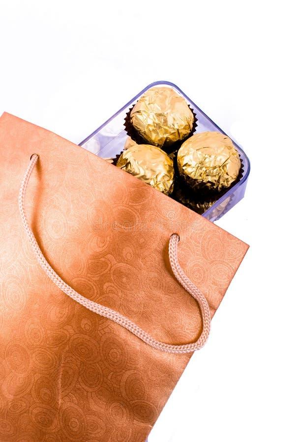 пакет подарка шоколада стоковое фото