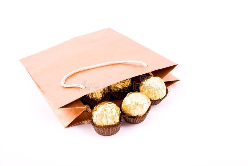пакет подарка шоколада стоковые изображения