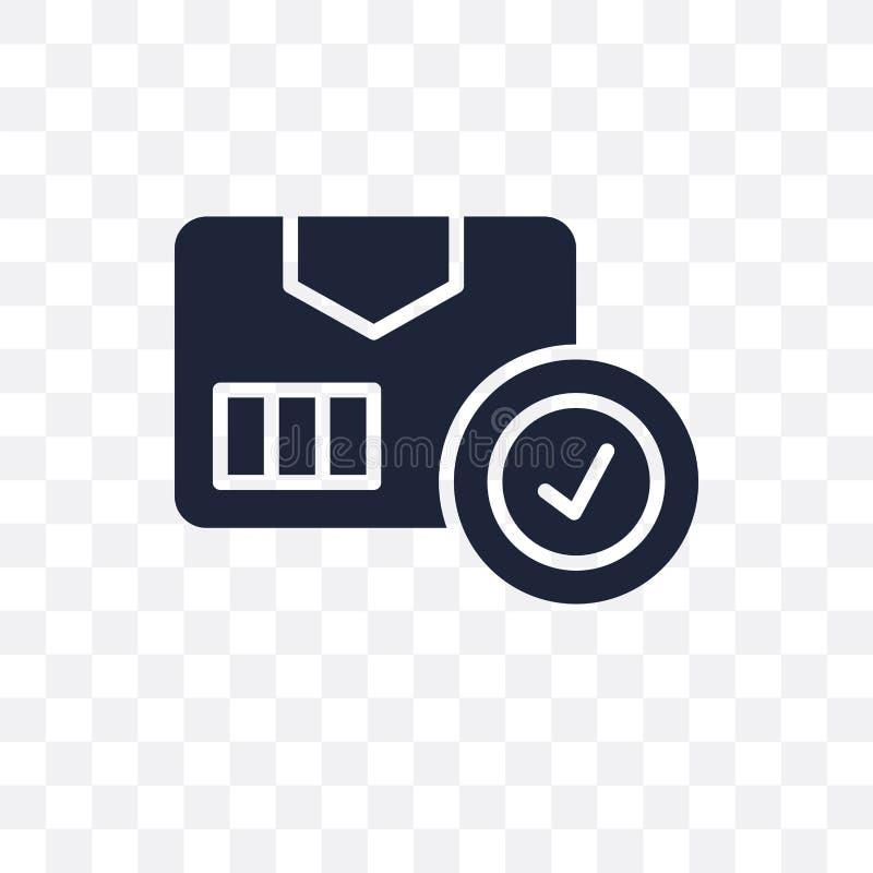 Пакет проверяя прозрачный значок Desig символа проверки пакета иллюстрация вектора