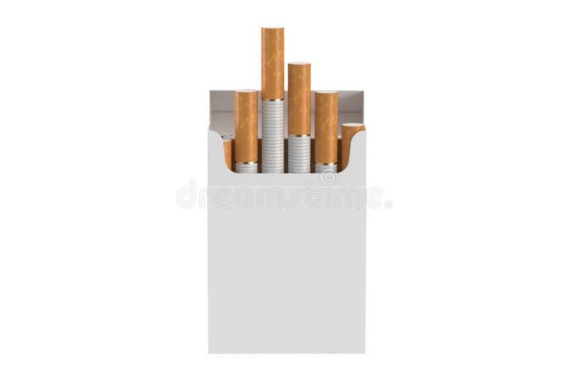 Пакет сигарет иллюстрация штока