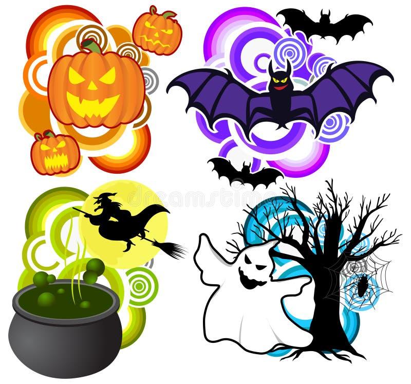 Пакет хеллоуина иллюстрация вектора