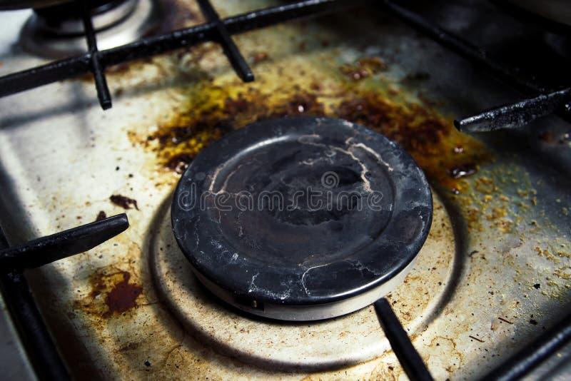 пакостная газовая плита стоковое фото
